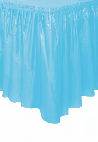 Jupe de table bleu pastel en plastique 73 x 426 cm