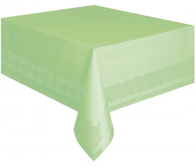 Nappe en papier vert pomme doublée en plastique 137 x 274 cm