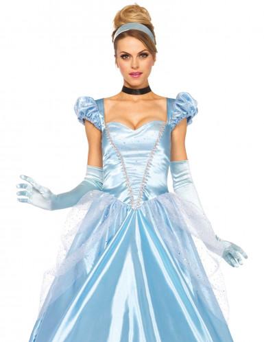 Déguisement princesse robe bleue femme-1