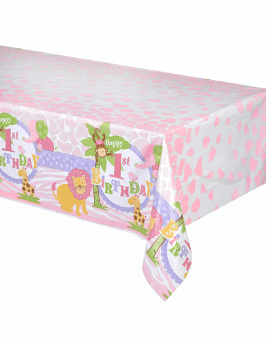 Nappe plastique Jungle 1 an Fille 137 x 214 cm