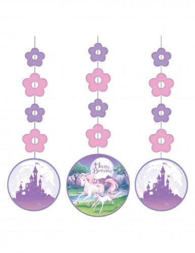 3 Décorations à suspendre Licorne magique 91 cm