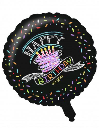 Ballon aluminium Confettis Happy Birthday 46 cm