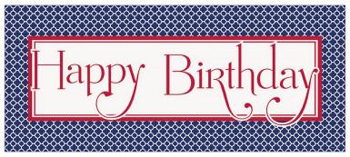 Bannière géante Happy Birthday Grafik 152 x 68 cm