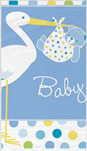 Nappe en plastique Cigogne bleue 137 x 213 cm