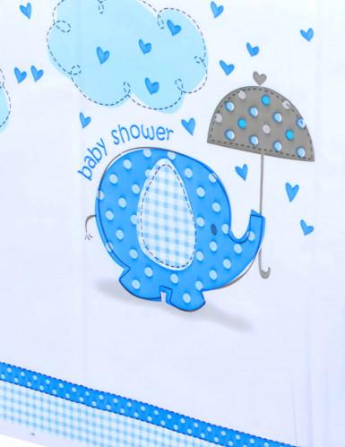Nappe plastique Elephant Bleu 137 x 214 cm -1