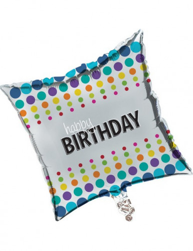 Ballon aluminium Happy Birthday Pop 46 cm
