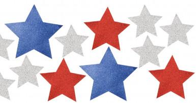 12 Décorations étoiles USA