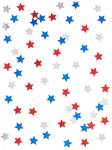Confettis étoiles USA