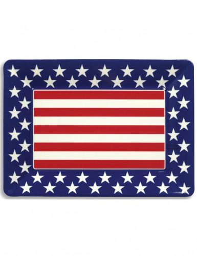 Plateau plastique étoiles USA