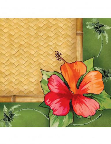 16 Serviettes en papier Bambou Hawai 33 x 33 cm