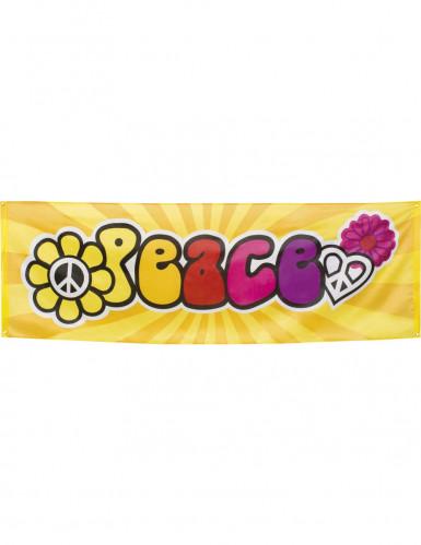 Bannière Tissu Hippie Flower Power