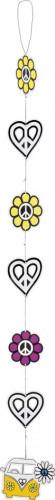 Décoration à suspendre Hippie Flower Power 125 cm