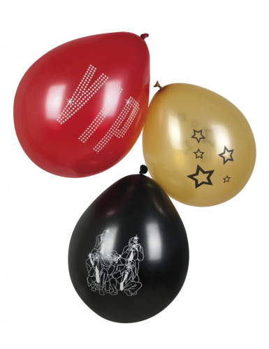 6 Ballons VIP 25 cm