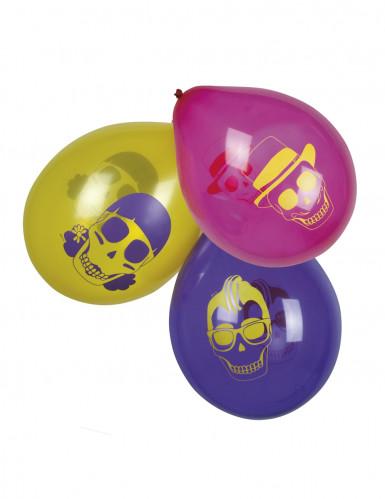 6 Ballons Día de los muertos 25 cm
