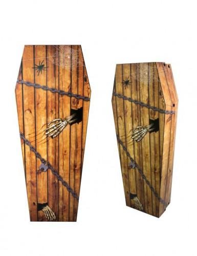 Cercueil en carton faux bois 150 cm Halloween