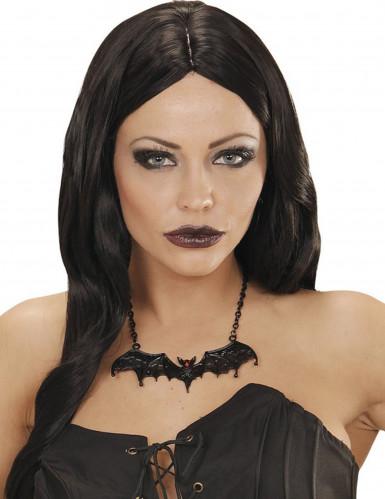 Collier chauve-souris noire adulte Halloween