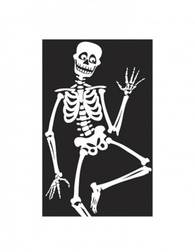 Décoration de fenêtre Fantômes ou Squelettes Halloween-1