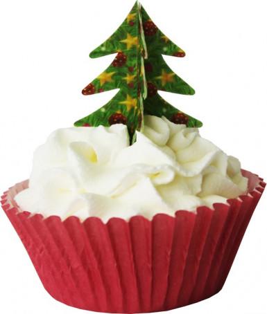 12 Décorations 3D pour gâteaux sapin de Noël