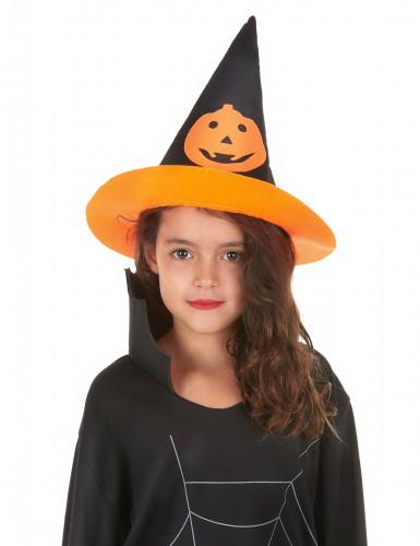 Chapeau sorcière citrouille enfant Halloween-1