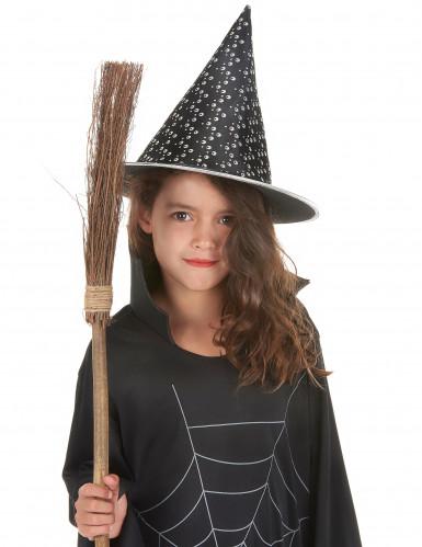 Chapeau sorcière noir et blanc adulte et enfant Halloween-1