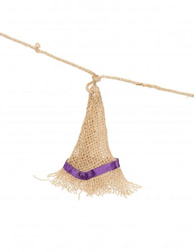 Guirlande chapeau de sorcière jute 180 cm Halloween-1