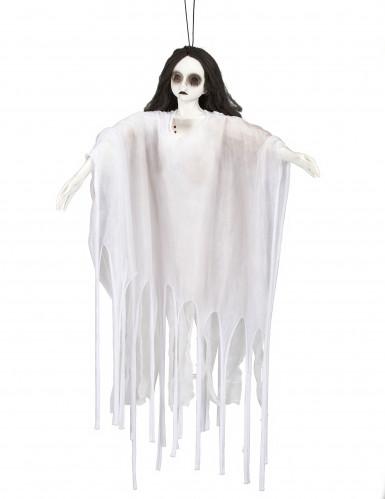 Décoration à suspendre dame blanche lumineuse 90 cm Halloween