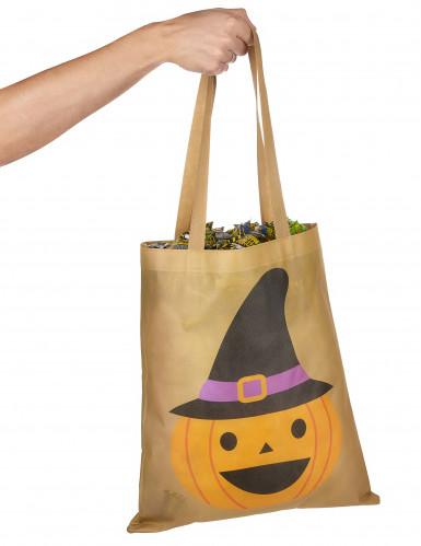Sac à bonbons citrouille 43 cm halloween-2