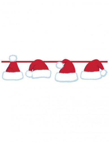 Guirlande bonnets du Père Noël 1.5 mètres