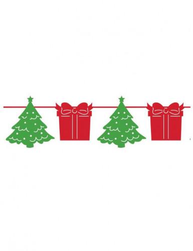 Guirlande sapins et cadeaux Noël