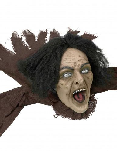 Décoration sorcière sonore et lumineuse 160 cm Halloween-1