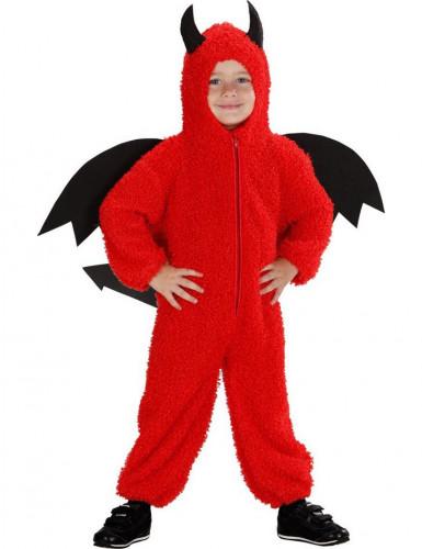 Déguisement petit démon rouge bébé Halloween-1