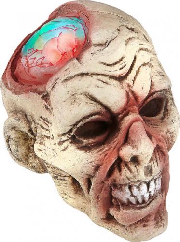Décoration tête zombie lumineuse 22 cm