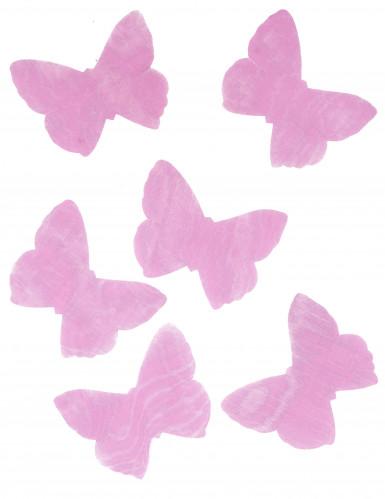 50 Papillons en organza fuchsia