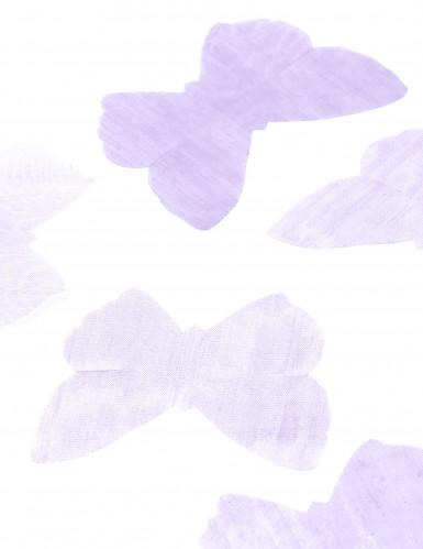 50 Papillons organza parme-1