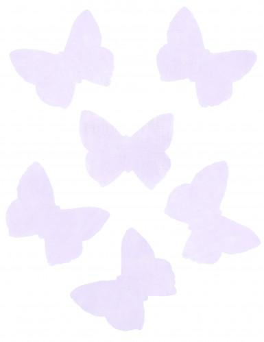 50 Papillons organza parme