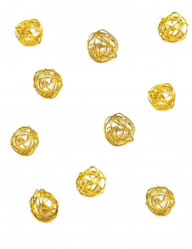 20 Perles métal or