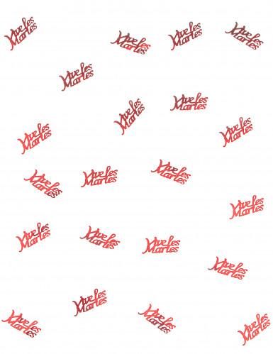Confettis de table rouge Vive les mariés 10 grammes-1