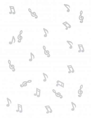 24 Notes de musique en bois blanc-1