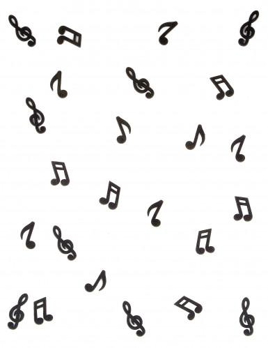 24 Notes de musique en bois noir