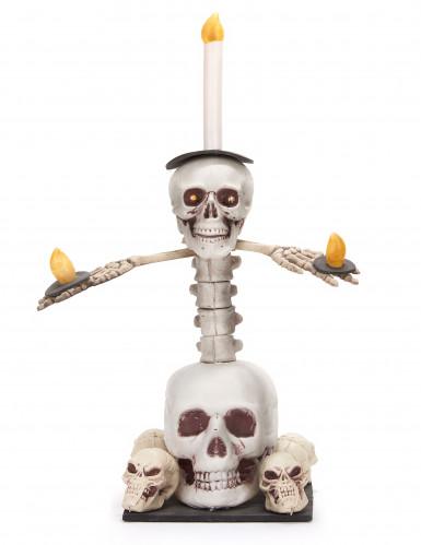 Chandelier lumineux têtes de mort 55 x 40 cm Halloween