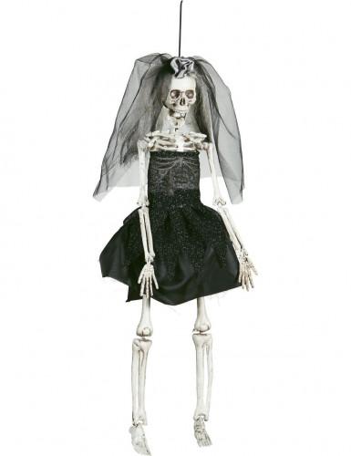 Décoration squelette mariée 42 cm Halloween