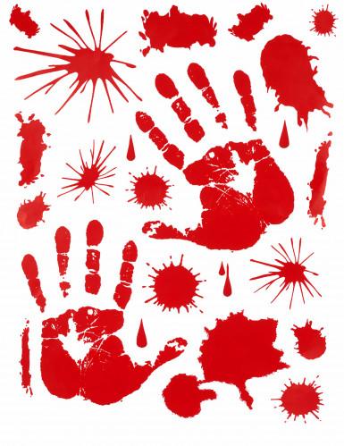 Décorations stickers mains ensanglantées Halloween