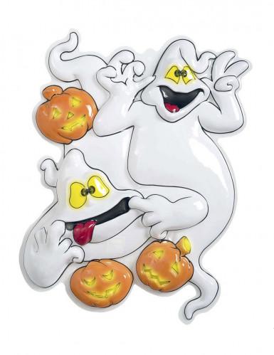 Décoration murale fantômes et citrouilles d'Halloween