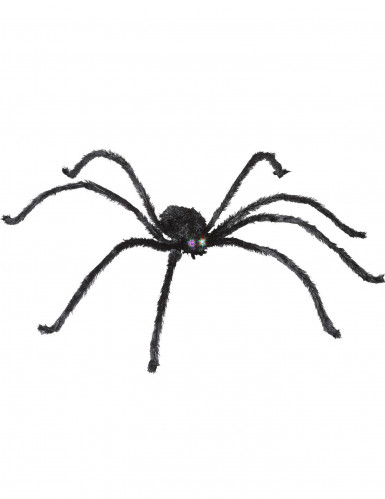 Araignée avec yeux lumineux 153 cm Halloween
