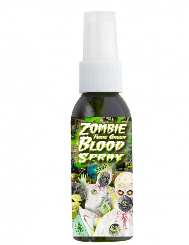 Spray faux sang toxique vert 48 ml Halloween