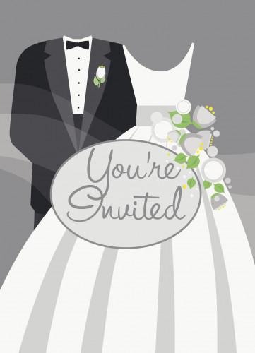 8 Cartes d'invitation mariage