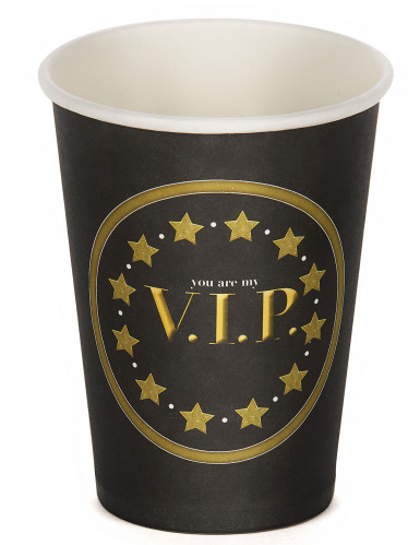 8 Gobelets en carton VIP 25 cl