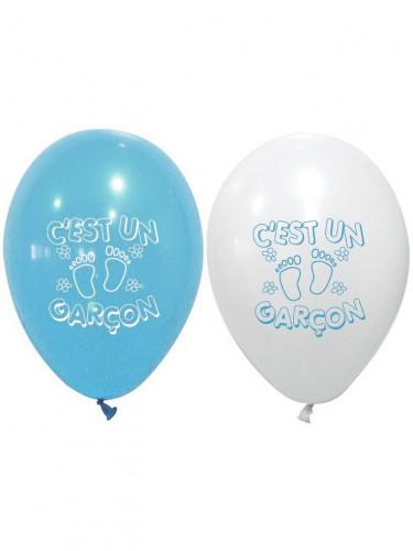8 Ballons imprimés C'est un garçon
