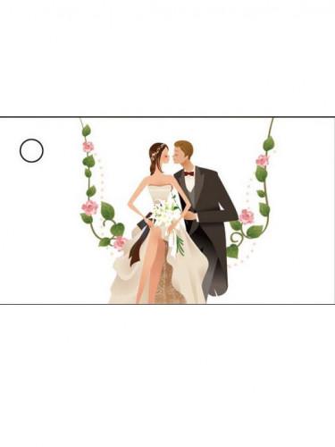 10 Etiquettes Mariage couple de mariés