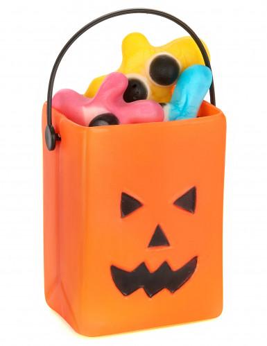 6 Mini seaux à bonbons citrouille Halloween-1